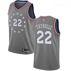76ers #22 Mattise Thybulle Gray Basketball Swingman City Edition 2018 19 Jersey