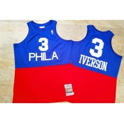 76ers 3 Allen Iverson Blue Red 2003 04 Hardwood Classics Swingman Jersey