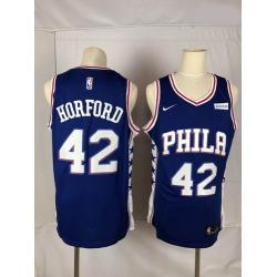 76ers 42 Al Horford Blue Nike Throwback Swingman Jersey