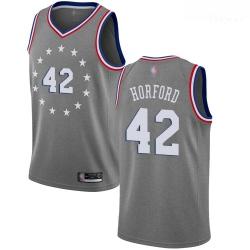 76ers #42 Al Horford Gray Basketball Swingman City Edition 2018 19 Jersey