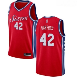 76ers #42 Al Horford Red Basketball Swingman Statement Edition Jersey