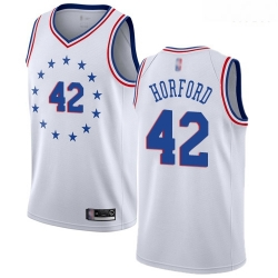 76ers #42 Al Horford White Basketball Swingman Earned Edition Jersey