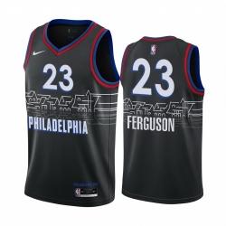 Men Nike Philadelphia 76ers 23 Terrance Ferguson Black NBA Swingman 2020 21 City Edition Jersey