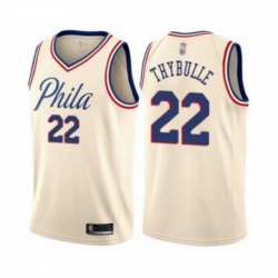 Mens Philadelphia 76ers 22 Mattise Thybulle Authentic Cream Basketball Jersey City Edition