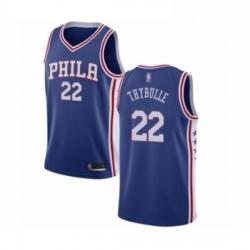 Mens Philadelphia 76ers 22 Mattise Thybulle Swingman Blue Basketball Jersey Icon Edition