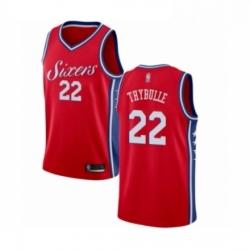 Mens Philadelphia 76ers 22 Mattise Thybulle Swingman Red Basketball Jersey Statement Edition