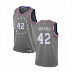 Mens Philadelphia 76ers 42 Al Horford Swingman Gray Basketball Jersey City Edition