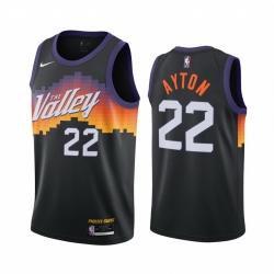 Men Nike Phoenix Suns 22 Deandre Ayton Black NBA Swingman 2020 21 City Edition Jersey