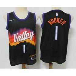 Men Phoenix Suns 1 Devin Booker Black 2021 City Edition NBA Swingman Jersey