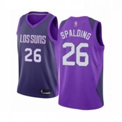 Mens Phoenix Suns 26 Ray Spalding Authentic Purple Basketball Jersey City Edition