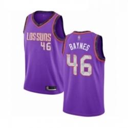Mens Phoenix Suns 46 Aron Baynes Authentic Purple Basketball Jersey 2018 19 City Edition