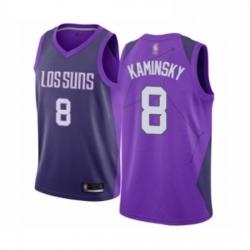 Mens Phoenix Suns 8 Frank Kaminsky Authentic Purple Basketball Jersey City Edition