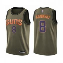 Mens Phoenix Suns 8 Frank Kaminsky Swingman Green Salute to Service Basketball Jersey