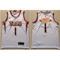 Suns 1 Devin Booker White Nike Swingman Jersey