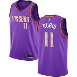 Suns  11 Ricky Rubio Purple Basketball Swingman City Edition 2018 19 Jersey
