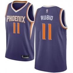 Suns  11 Ricky Rubio Purple Basketball Swingman Icon Edition Jersey