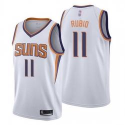 Suns  11 Ricky Rubio White Basketball Swingman Association Edition Jersey