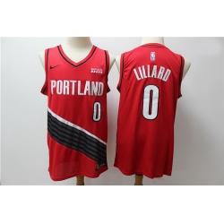 Blazers 0 Damian Lillard Red City Edition Nike Swingman Jersey