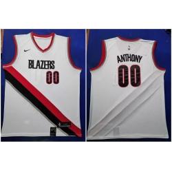 Blazers 00 Carmelo Anthony White 2019 20 Nike Swingman Jersey