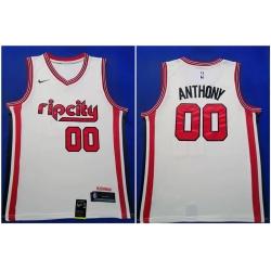 Blazers 00 Carmelo Anthony White Red 2019 20 Nike Swingman Jersey