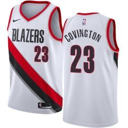 Men Nike Portland Blazers 23 Robert Covington White NBA Swingman Association Edition Jersey