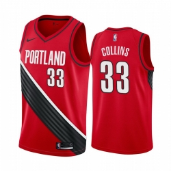 Men Nike Portland Blazers 33 Zach Collins Red NBA Swingman Statement Edition 2019 2020 Jersey
