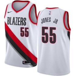 Men Nike Portland Blazers 55 Derrick Jones Jr White NBA Swingman Association Edition Jersey