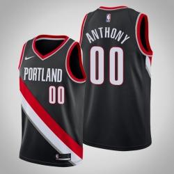 Men Nike Portland Trail Blazers 00 Carmelo Anthony Association Black Swinman Jersey