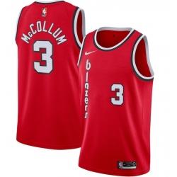 Mens Nike Portland Trail Blazers  CJ McCollum Swingman Red Alternate NBA Jersey 2020 Statement Edition
