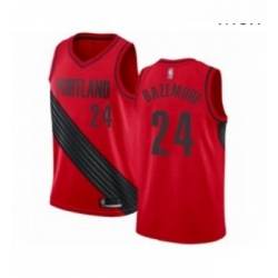 Mens Portland Trail Blazers 24 Kent Bazemore Authentic Red Basketball Jersey Statement Edition