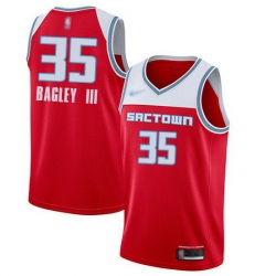 Kings  35 Marvin Bagley III Red Basketball Swingman City Edition 2019 20 Jersey