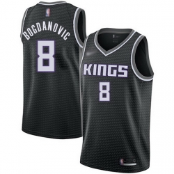 Kings  8 Bogdan Bogdanovic Black Basketball Swingman Statement Edition Jersey