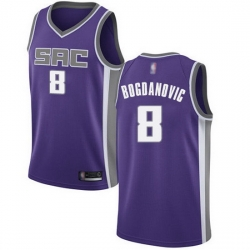 Kings  8 Bogdan Bogdanovic Purple Basketball Swingman Icon Edition Jersey