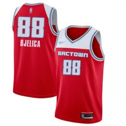 Kings  88 Nemanja Bjelica Red Basketball Swingman City Edition 2019 20 Jersey