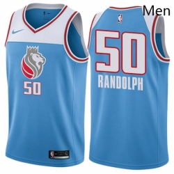 Mens Nike Sacramento Kings 50 Zach Randolph Swingman Blue NBA Jersey City Edition