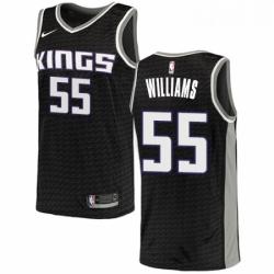 Mens Nike Sacramento Kings 55 Jason Williams Authentic Black NBA Jersey Statement Edition