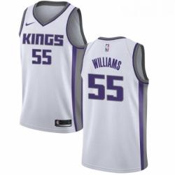 Mens Nike Sacramento Kings 55 Jason Williams Swingman White NBA Jersey Association Edition