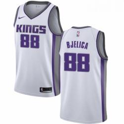 Mens Nike Sacramento Kings 88 Nemanja Bjelica Swingman White NBA Jersey Association Edition