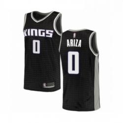 Mens Sacramento Kings 0 Trevor Ariza Authentic Black Basketball Jersey Statement Edition