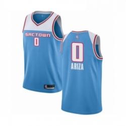 Mens Sacramento Kings 0 Trevor Ariza Authentic Blue Basketball Jersey 201 19 City Edition