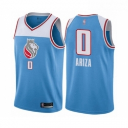Mens Sacramento Kings 0 Trevor Ariza Authentic Blue Basketball Jersey City Edition