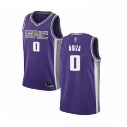 Mens Sacramento Kings 0 Trevor Ariza Authentic Purple Basketball Jersey Icon Edition