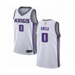 Mens Sacramento Kings 0 Trevor Ariza Authentic White Basketball Jersey Association Edition