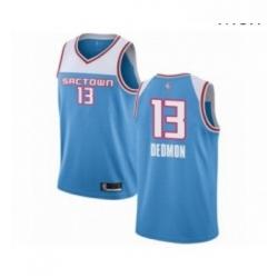 Mens Sacramento Kings 13 Dewayne Dedmon Authentic Blue Basketball Jersey 2018 19 City Edition