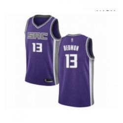 Mens Sacramento Kings 13 Dewayne Dedmon Authentic Purple Basketball Jersey Icon Edition