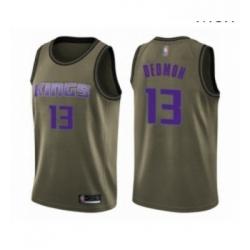 Mens Sacramento Kings 13 Dewayne Dedmon Swingman Green Salute to Service Basketball Jersey