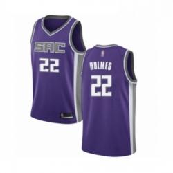 Mens Sacramento Kings 22 Richaun Holmes Authentic Purple Basketball Jersey Icon Edition