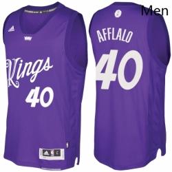 Mens Sacramento Kings 40 Arron Afflalo Purple 2016 2017 Christmas Day NBA Swingman Jersey