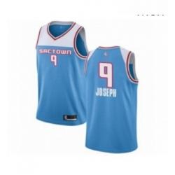Mens Sacramento Kings 9 Cory Joseph Authentic Blue Basketball Jersey 2018 19 City Edition