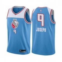 Mens Sacramento Kings 9 Cory Joseph Authentic Blue Basketball Jersey City Edition
